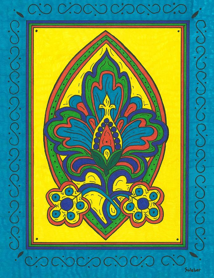 Flower Painting - Flower Power Talavera Style by Susie Weber