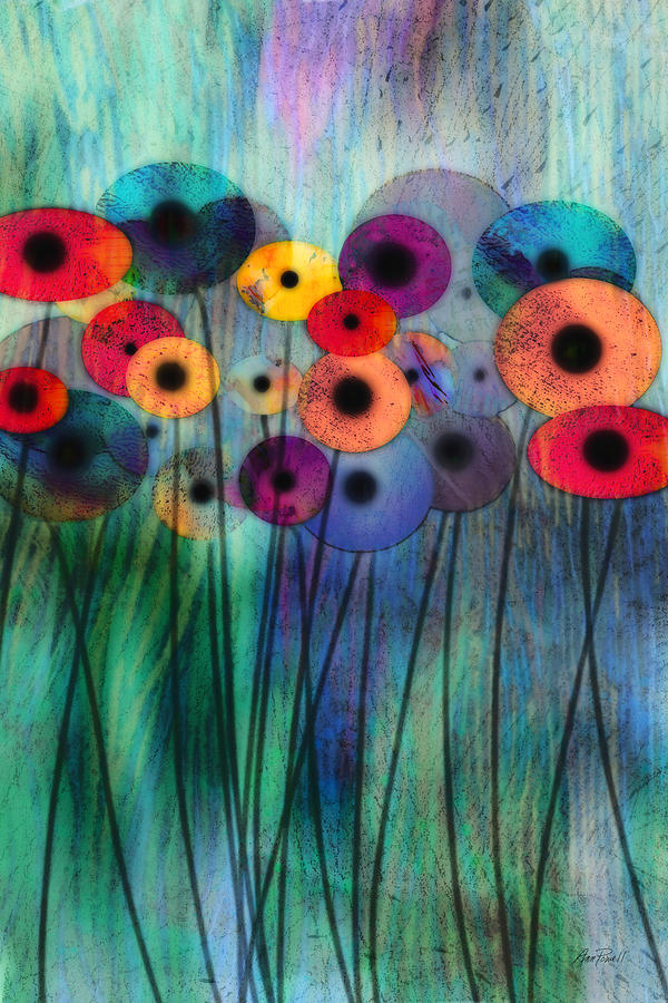 Flower Digital Art - Flower Power Three by Ann Powell