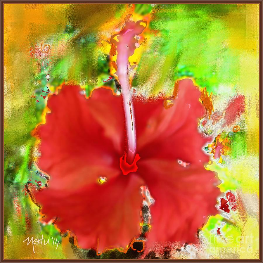 Canvas Prints Painting - Flower Red by Nedunseralathan R