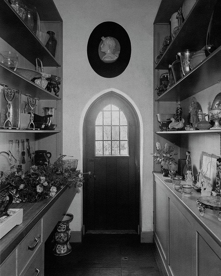 Flower Room In The Home Of Mrs. Charles Wheeler Photograph by Peter Nyholm & F.S. Lincoln