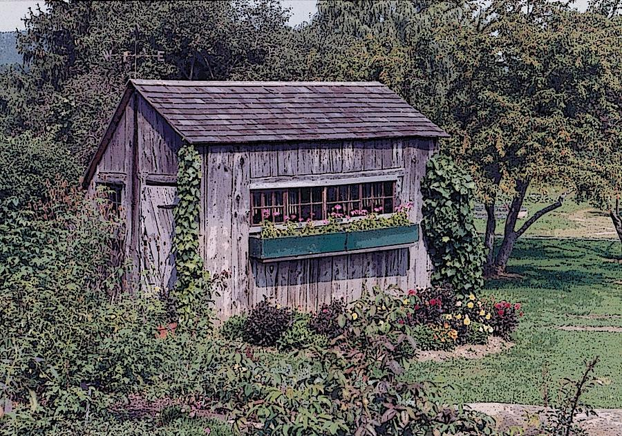 Flowers Photograph - Flower Shed by Glenn Cuddihy
