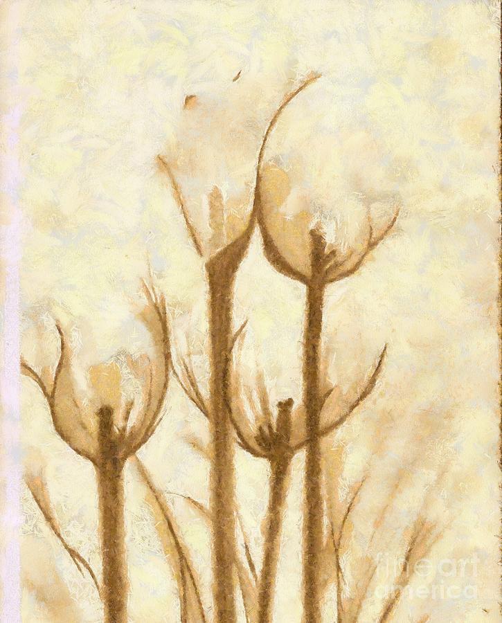 Artwork Mixed Media - Flower Sketch by Yanni Theodorou
