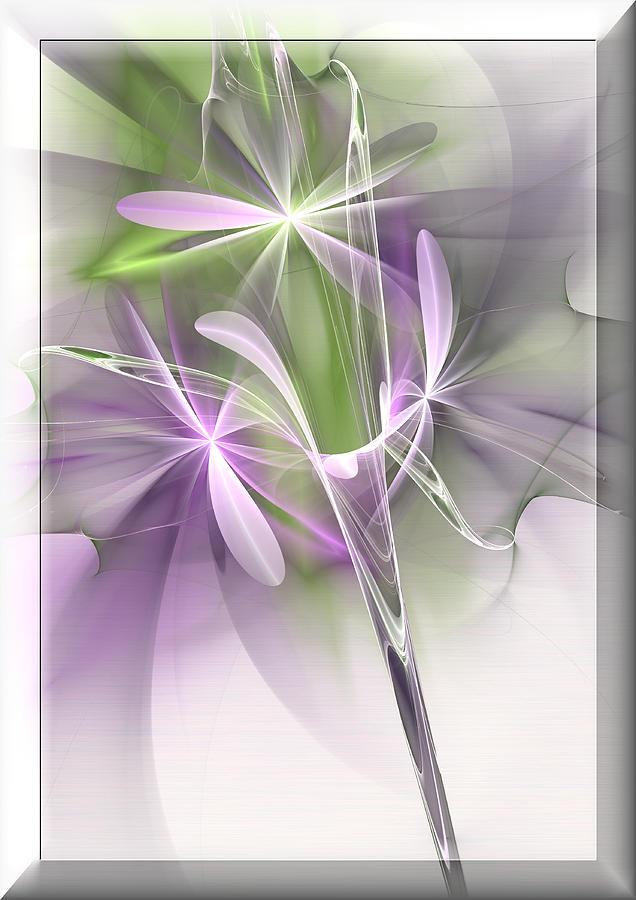 Floral Digital Art - Flower Spirit by Svetlana Nikolova