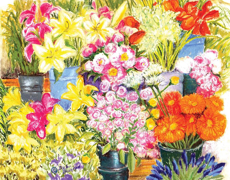 Berkley Painting - Flower Stand by Deborah Burow