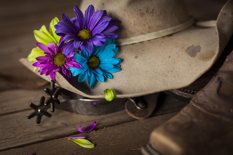 Landscapes Photograph - Flowered Hat by Amber Kresge