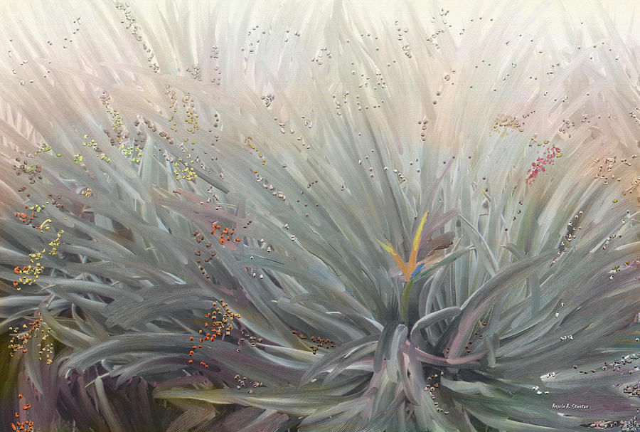 Brumelia Painting - Flowering Bushes In The Fog by Angela A Stanton