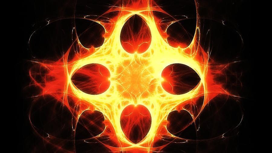 Fractal Digital Art - Flowering Flame by Tommy Reynolds