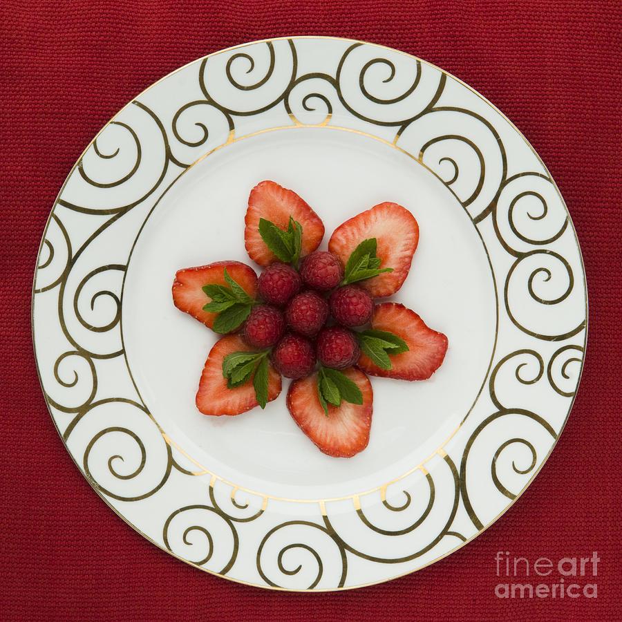 Arrangement Photograph - Flowering Fruits by Anne Gilbert