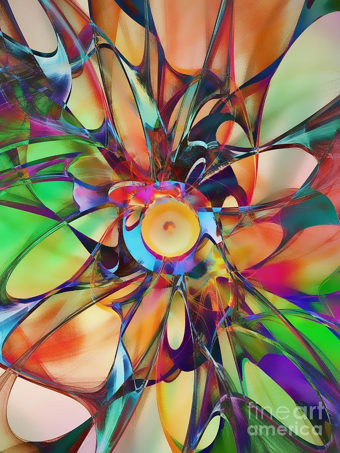 Abstract Digital Art - Flowering by Klara Acel