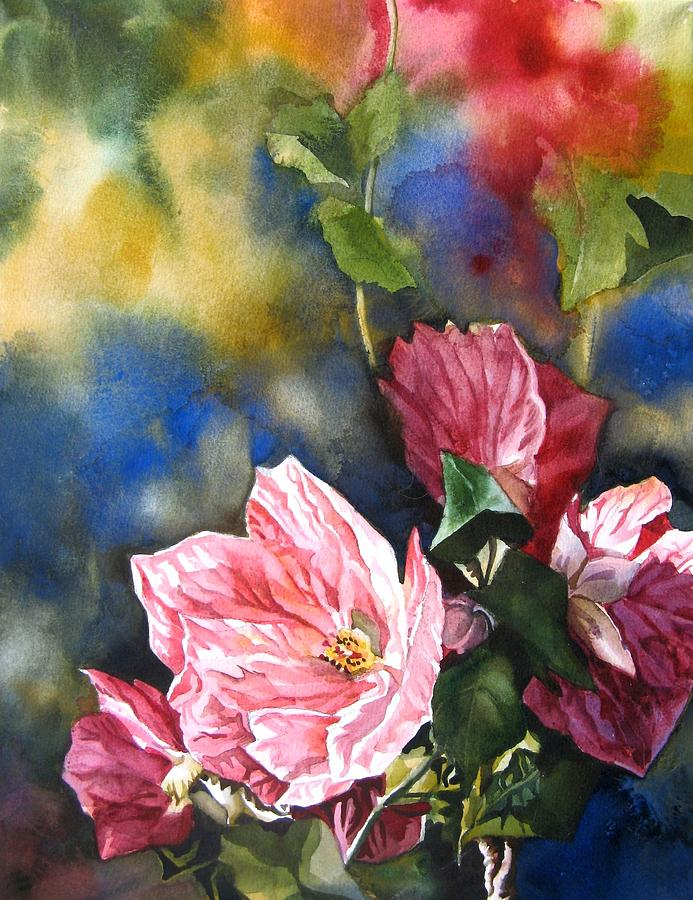Watercolour Painting - Flowering Maple by Alfred Ng
