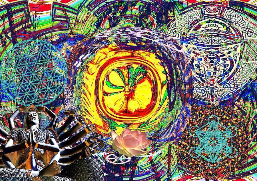 Allegory Digital Art - Flowering Shiva by Jason Saunders