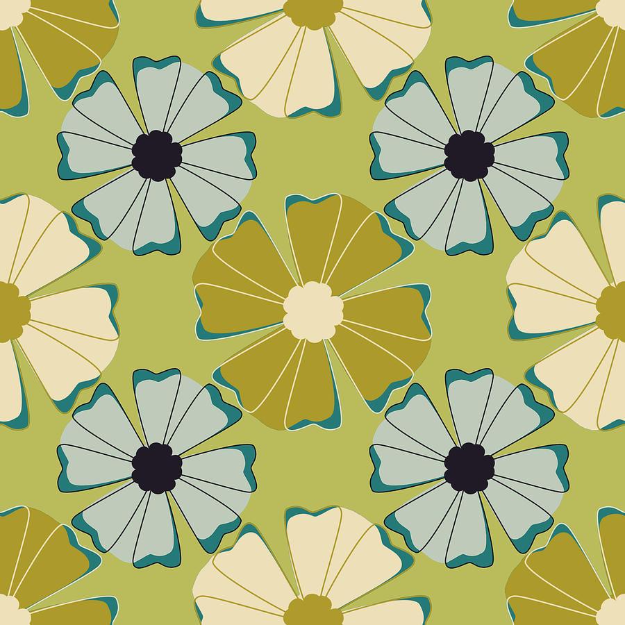 Posters Digital Art - Flowers 3 by Lisa Noneman