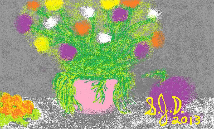 Digital Art - Flowers And Fruit by Joe Dillon