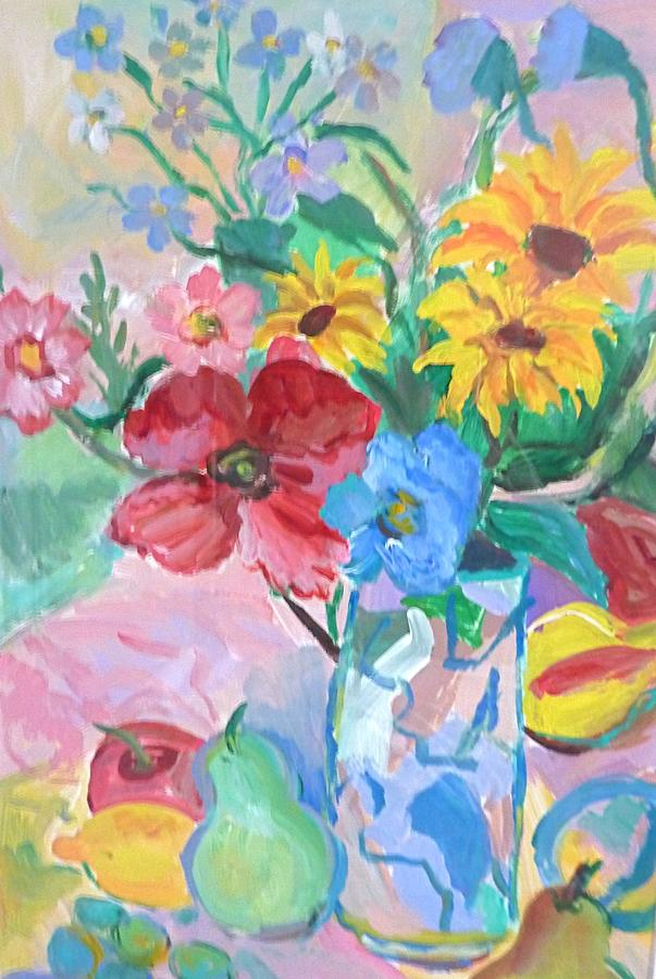 Painting Painting - Flowers And Fruits by Brenda Ruark