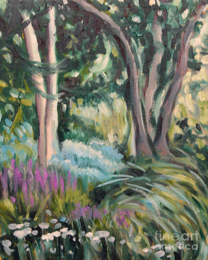 Landscape Painting - Flowers And Shade by Hilary England