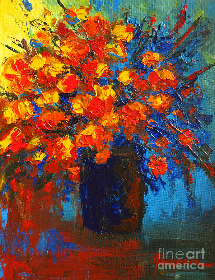 Flower Painting - Flowers Are Always Welcome IIi by Patricia Awapara