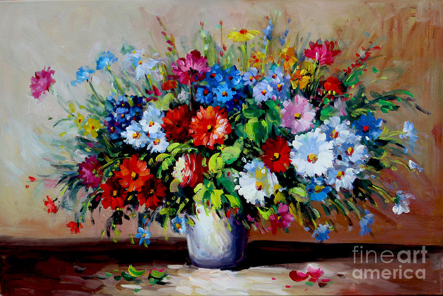 flowers bouquet painting by emma lambert