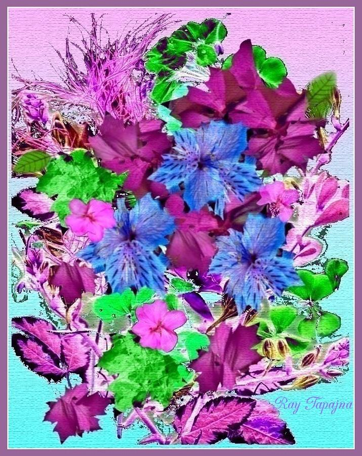 Flowers Mixed Media - Flowers Designed Just For You by Ray Tapajna