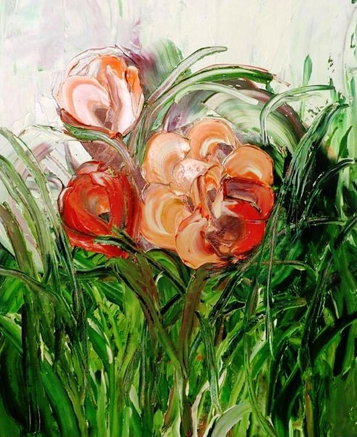 Flowers Painting - Flowers by Ferid Sefer