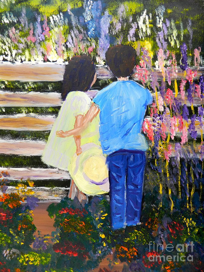 Impressionism Painting - Flowers For Her by Pamela  Meredith