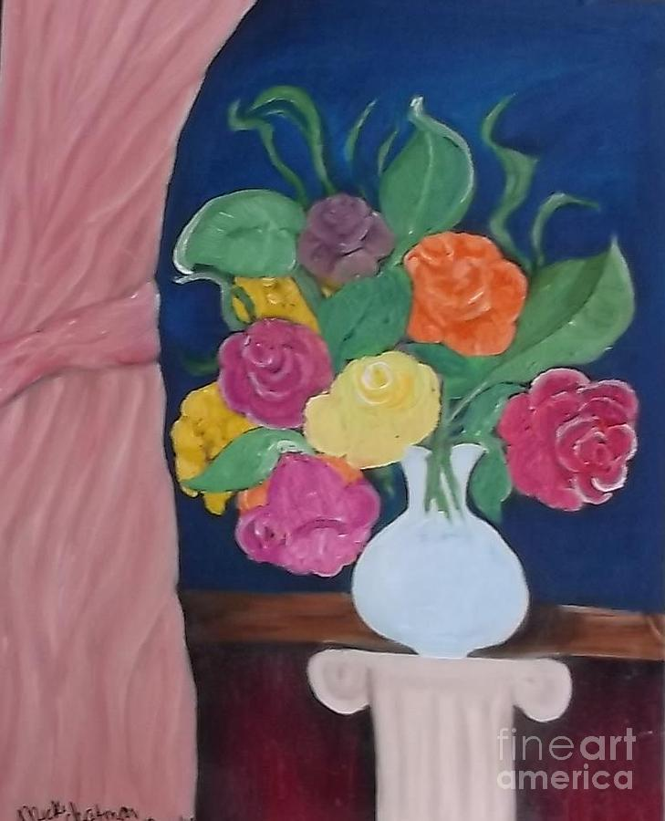 Flowers For Madear Painting by Mildred Chatman