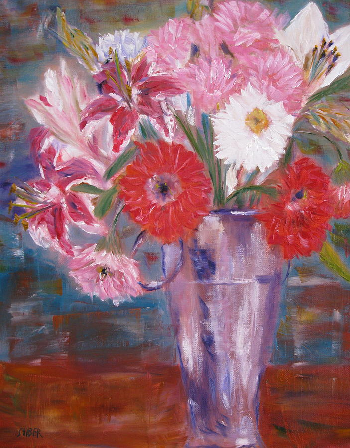 Flowers Painting - Flowers For Me by Kathy Stiber