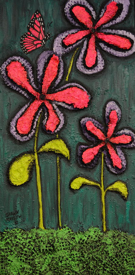 Landscape Painting - Flowers For Sydney by Shawn Marlow