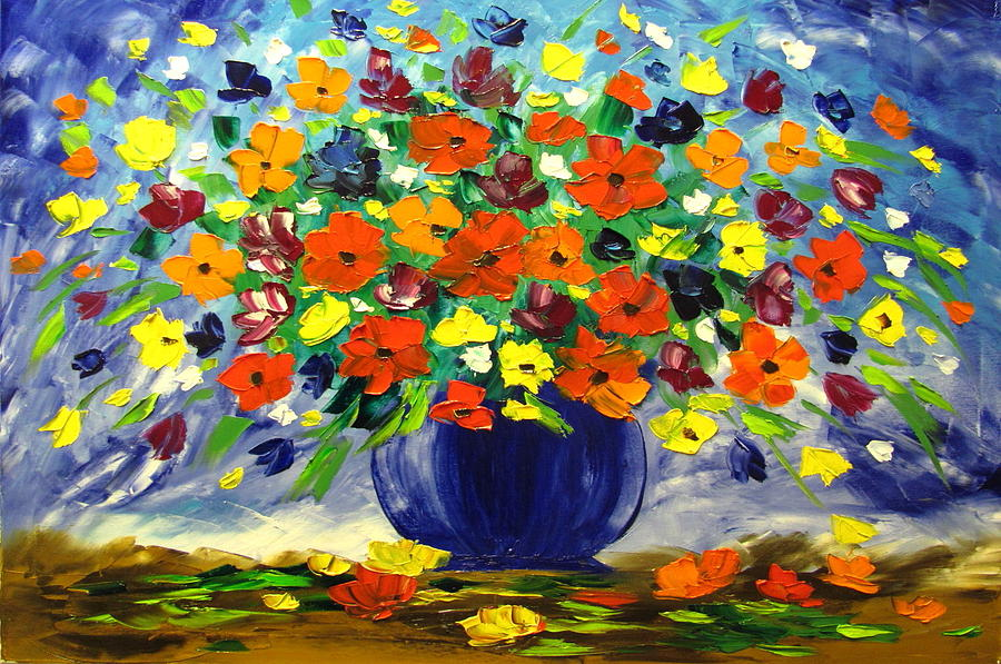 Flowers Painting - Flowers For You by Mariana Stauffer