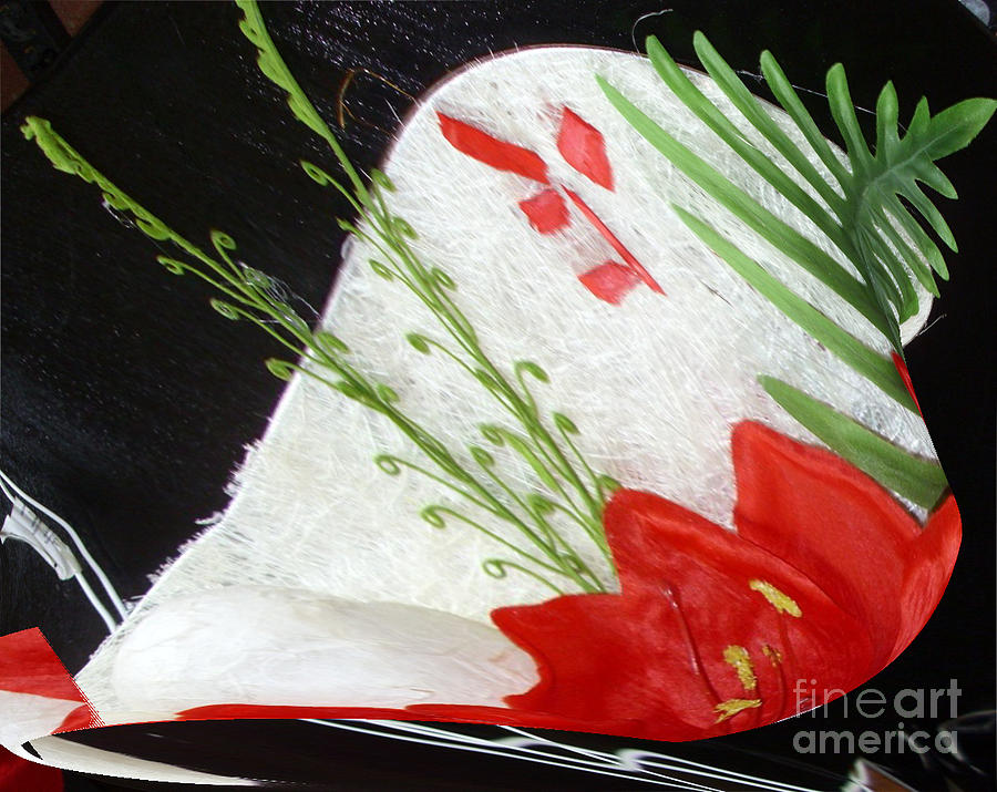 Living Room Ceramic Art - Flowers by Gabriele Mueller