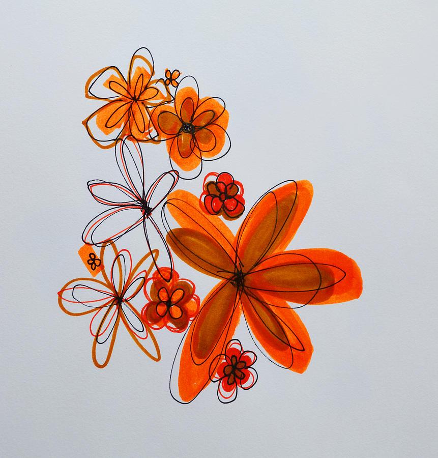 Illustration Drawing - Flowers IIII by Patricia Awapara