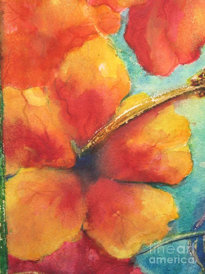 Watercolors Painting - Flowers In Bloom by Chrisann Ellis