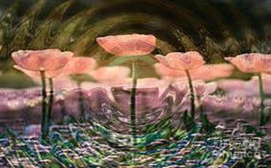 Flowers In Heat Mixed Media by PainterArtist FIN