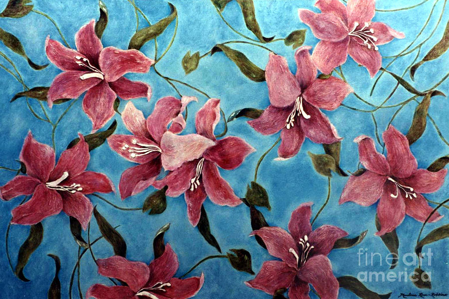 Flowers Painting - Flowers in the Breeze by Marlene Robbins