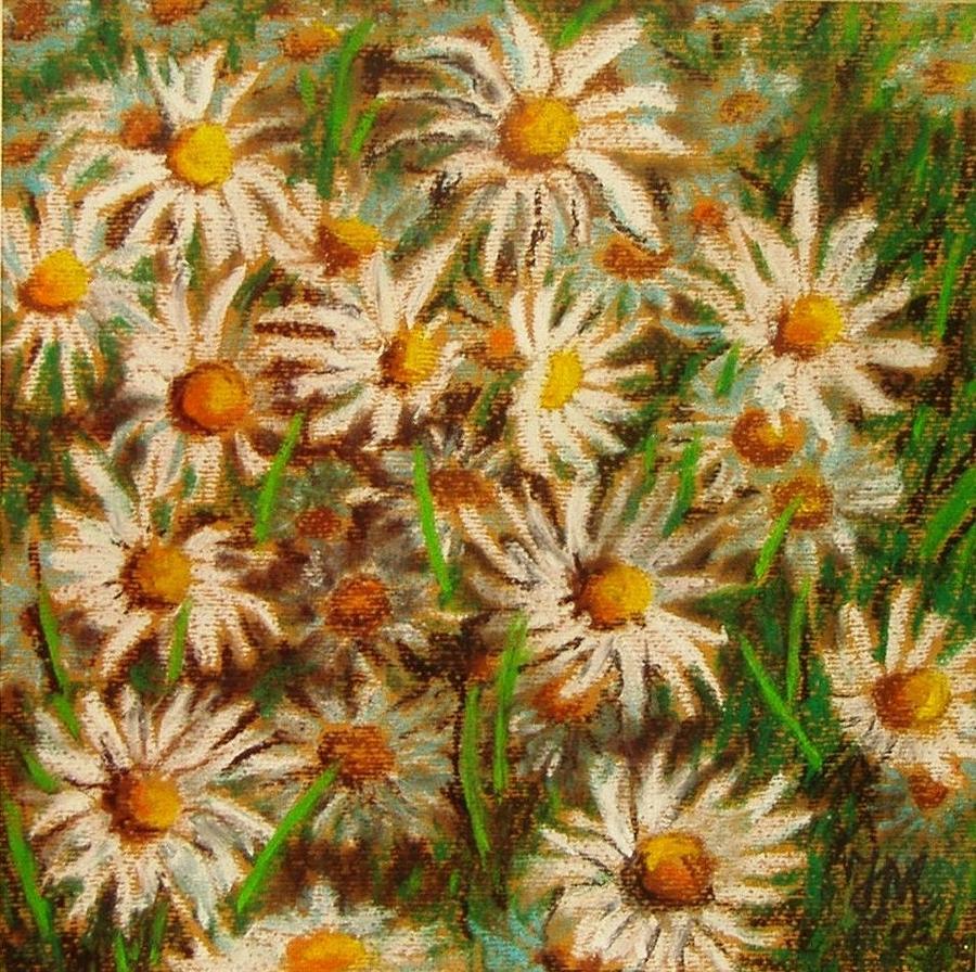 Flowers Pastel - Flowers In The Garden 2 by Nina Mitkova