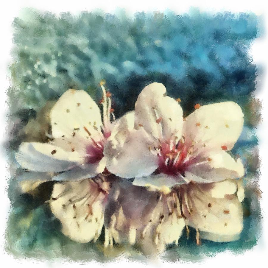 Flowers Painting - Flowers In Water by Desmond De Jager