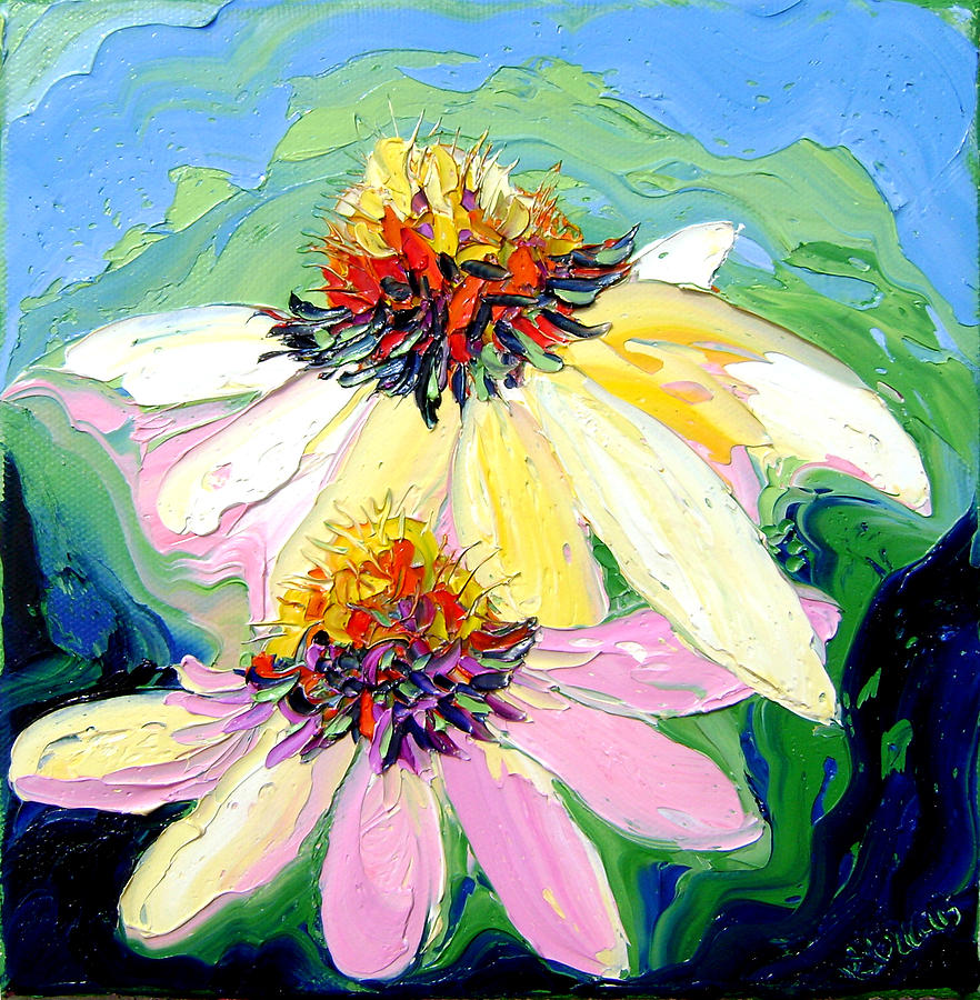 Isabelle Painting - Flowers by Isabelle Gervais
