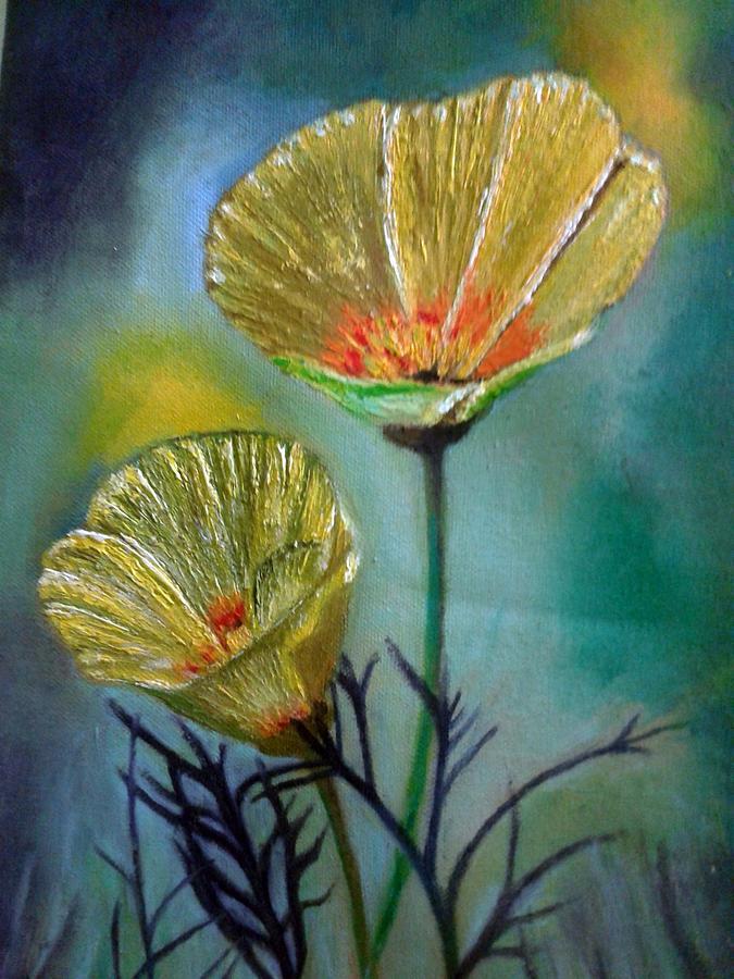 Flower Painting - Flowers by Jayachandran S Pillai