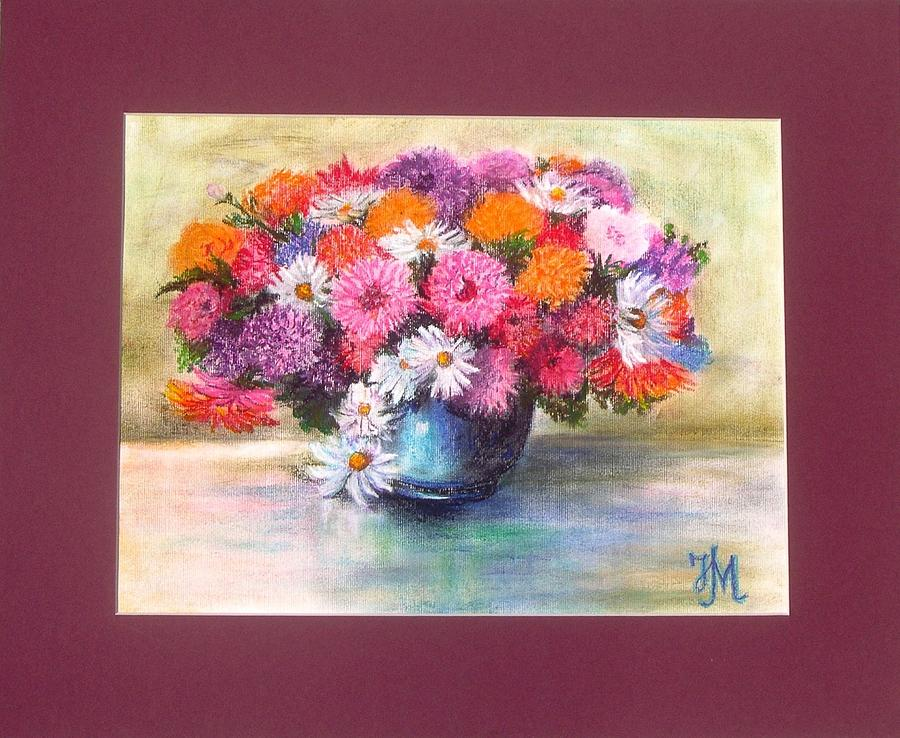 Flowers Pastel - Flowers by Nina Mitkova