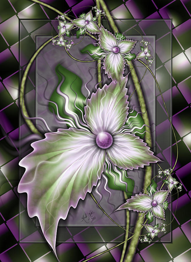 Flowers On Glass by Karla White