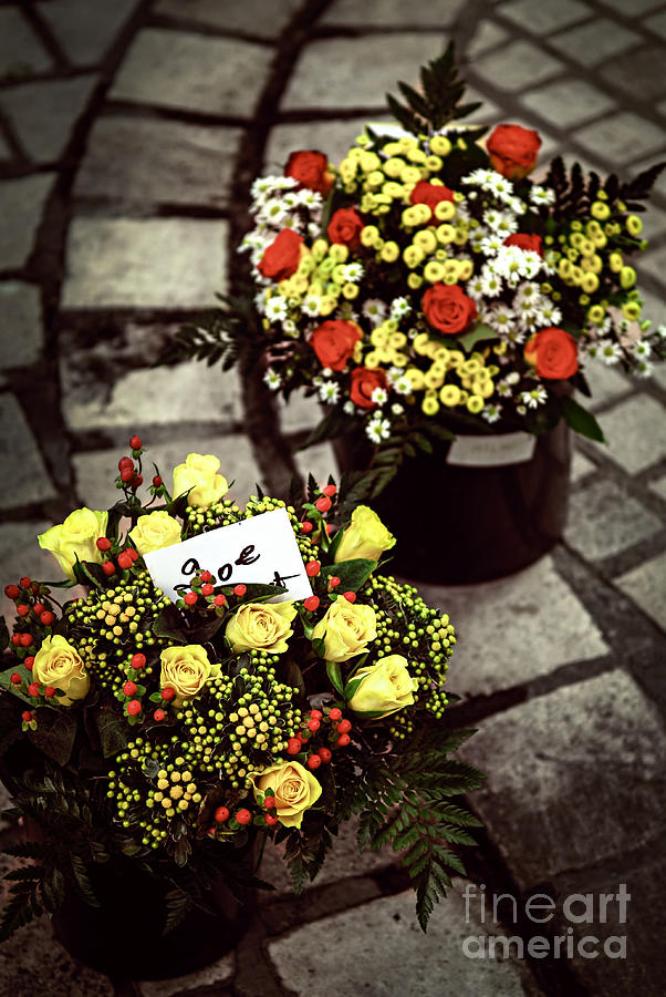 Flower Photograph - Flowers On The Market In France by Elena Elisseeva