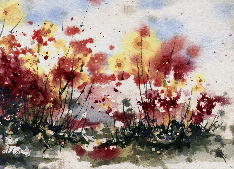 Floral Painting - Flowers by Sam Sidders