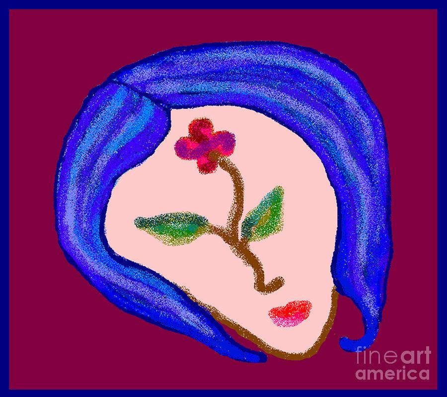 Flowerwoman Digital Art by Meenal C