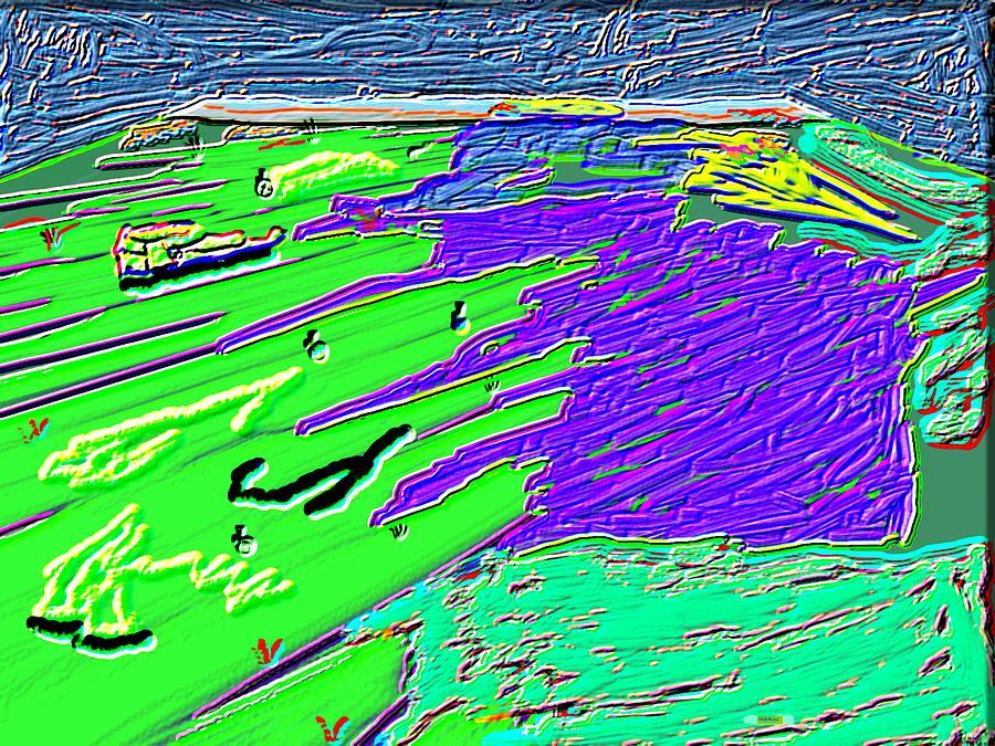 Digital Painting Digital Art - Flowing Edge World Digital Painting by Colette Dumont