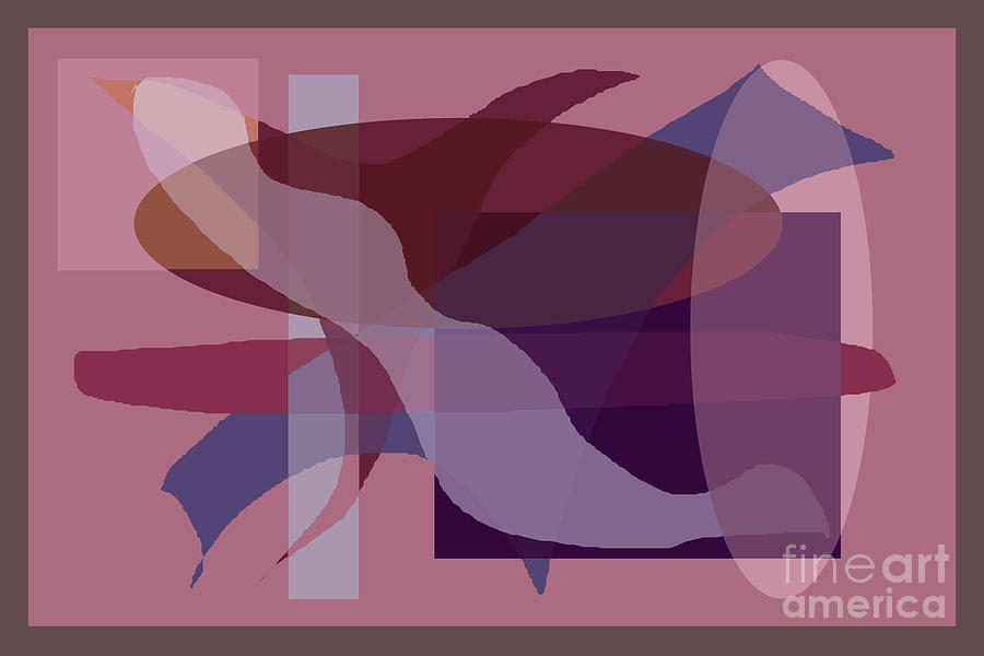 Rectangles Digital Art - Flowing Geometry1 by Meenal C