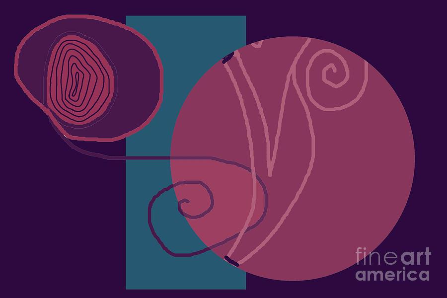 Geometric Pattern Digital Art - Flowing Geometry3 by Meenal C