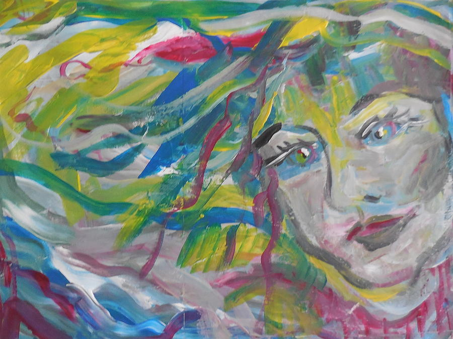 Girl Painting - Flowing Girl by Made by Marley