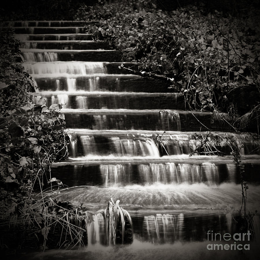 Stair Photograph - Flowing Stairs by Charmian Vistaunet