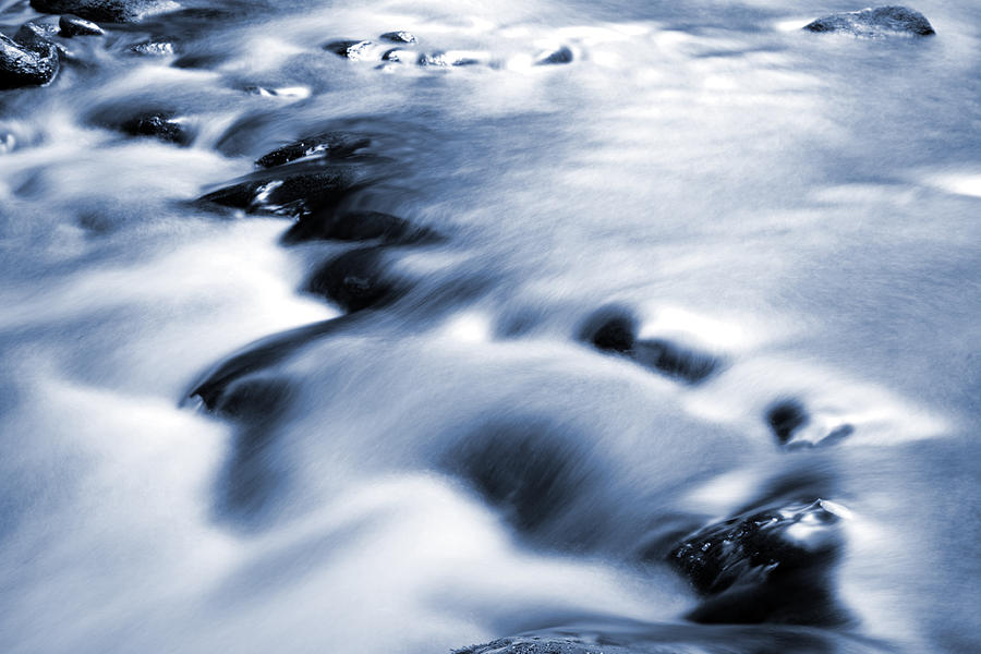 Water Photograph - Flowing Stream by Les Cunliffe