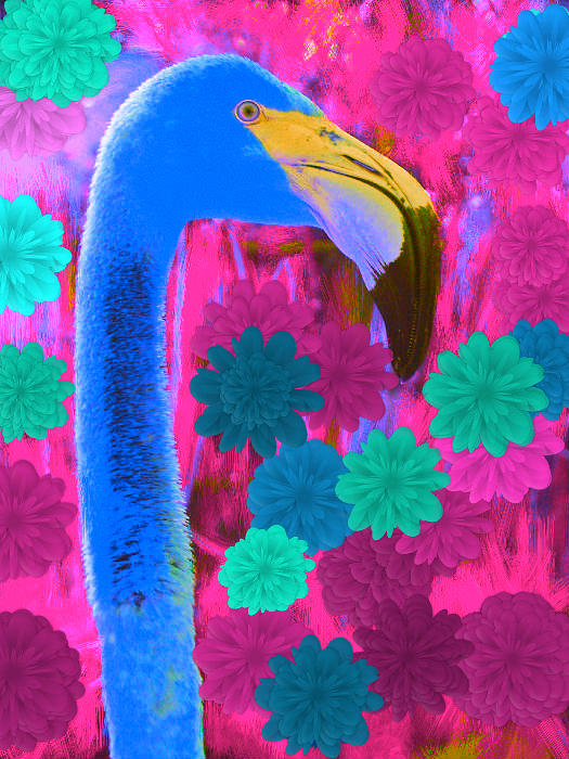 Bird Photograph - Flowmingo by Thommy McCorkle