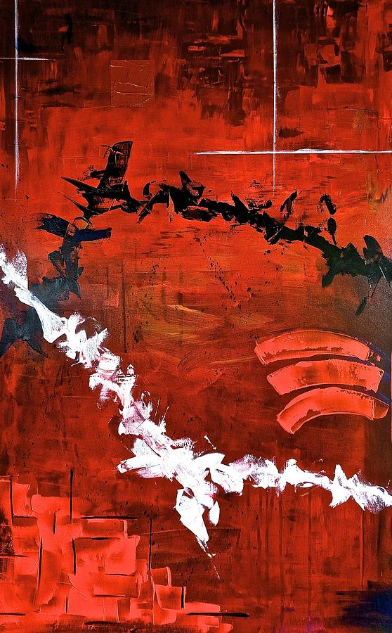 Hand Painting - Fluctuation No2 by Rob Van Heertum